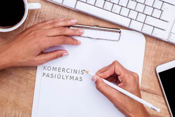Kaip Rašyti Komercinį Pasiūlymą