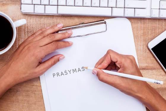 Kaip Rašyti Prašymą