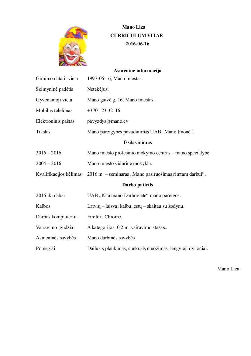 Mano CV